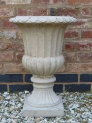 Stathern Urn Planter In Ancient Cement H47cm x D34cm
