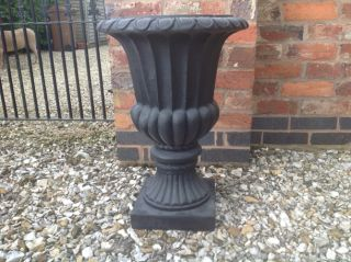 63cm Stathern Urn Planter in Black