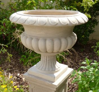 Barkestone Urn in Light Grey H50cm x D58cm