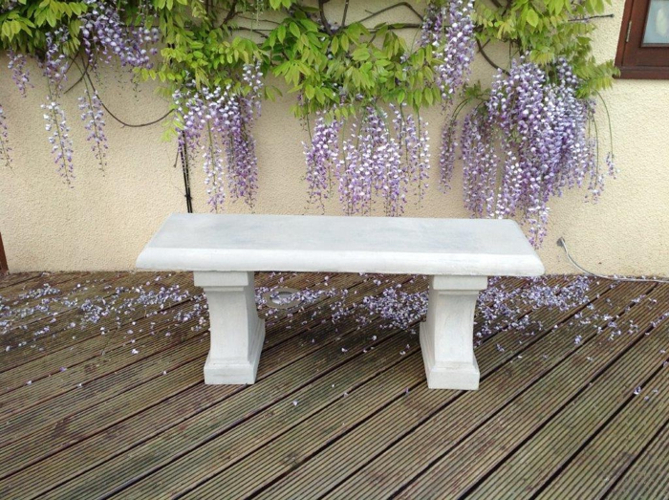 Bleasby Bench in Stone L122cm x H35cm