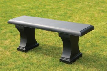Bleasby Bench in Black L122cm x H35cm