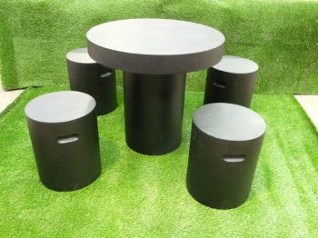 Barrowby Table Set in Dark Grey D80cm x H75cm