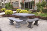 Gonerby Square Table in Stone W130cm x H75cm