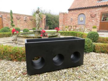 Langham Trough Planter in Black L100cm x H50cm