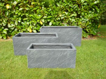 Normanton Trough Planter in Slate Grey W80cm x H40cm