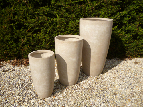 Long Bennington Planter in Stone H100cm x D55cm