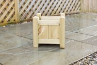 Small Square treated Redwood Planter
