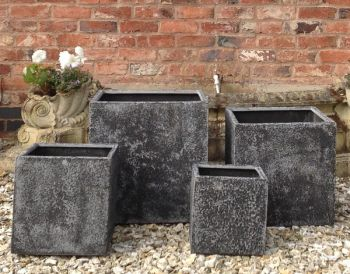 Thorpe Cube Planter in Dark Grey W30cm x H30cm