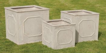 Bridgeford Cube Planter in Stone W50cm x H50cm