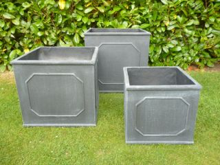 Bridgeford Cube Planter In Dark Grey W34cm x H34cm