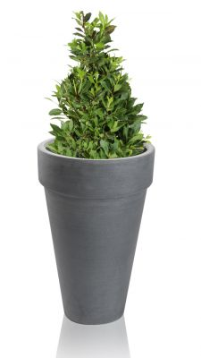 Grey Montroe Polystone Planter - Set of 2 - H35cm
