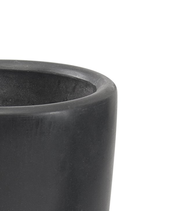 Black Ambler Polystone Tall Planter - Set of 2 - H37cm