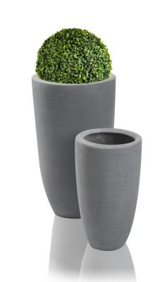 Grey Ambler Polystone Tall Planter - Set of 2 - H51cm/H37cm