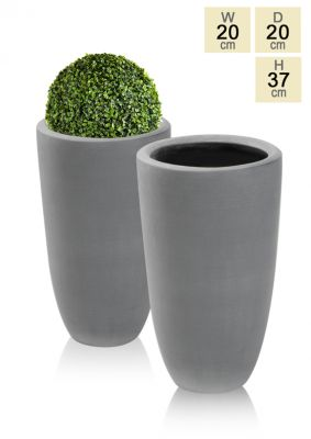 Grey Ambler Polystone Tall Planter - Set of 2 - H37cm