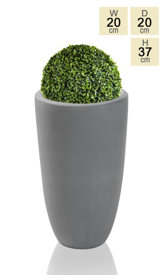37cm Polystone Grey Ambler Tall Planter