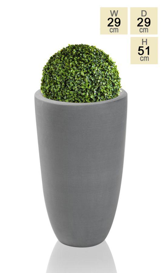 51cm Polystone Grey Ambler Tall Planter 163 24 99
