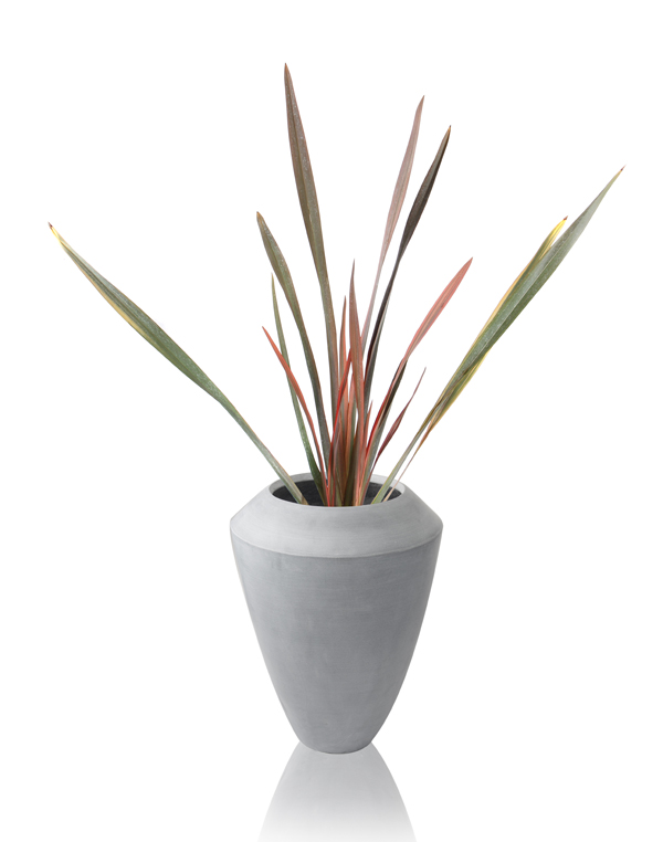 40cm Polystone Grey Roselle Tall Flared Planter