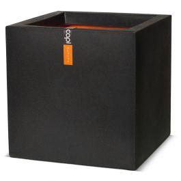 30cm Capi Tutch Cube Pot - Black