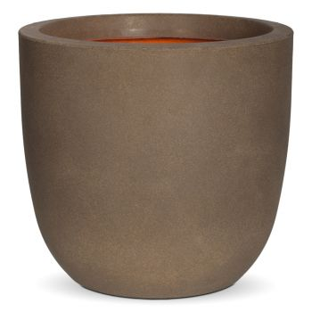 Capi Tutch Round Planter H41cm x Dia43cm - Brown
