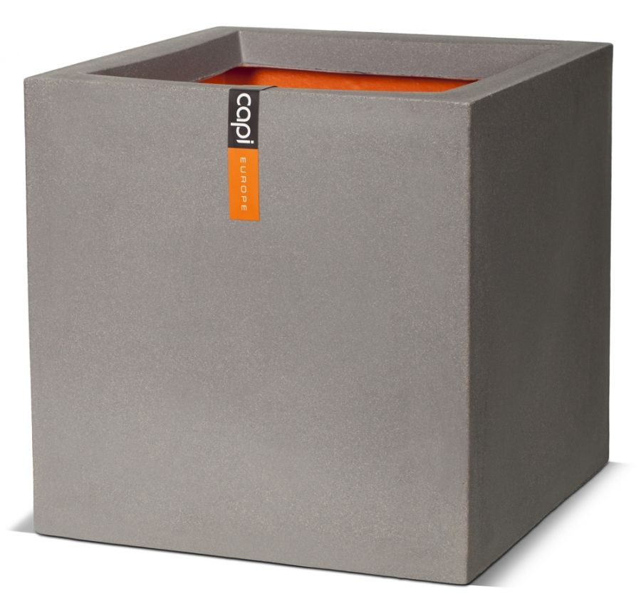 40cm Capi Tutch Cube Planter - Grey