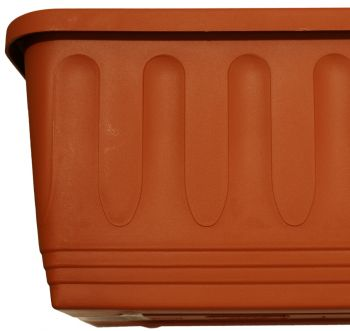 "Etruscan Ornamental Trough Planter in Terracotta - W80cm (31½"")"