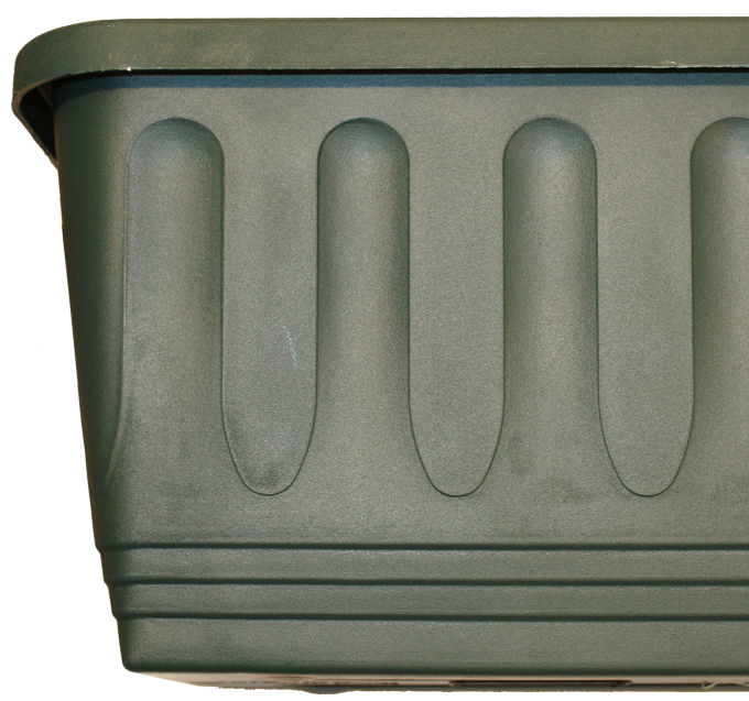 80cm Plastic Etruscan Ornamental Trough Planter in Forest Green