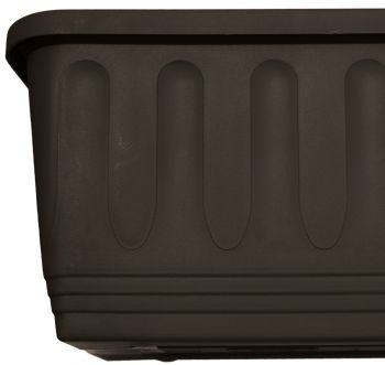 100cm Plastic Etruscan Ornamental Trough Planter in Charcoal