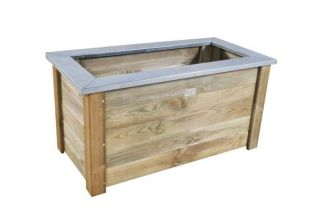 Wooden Cambridge Planter 162L - 100 x 50
