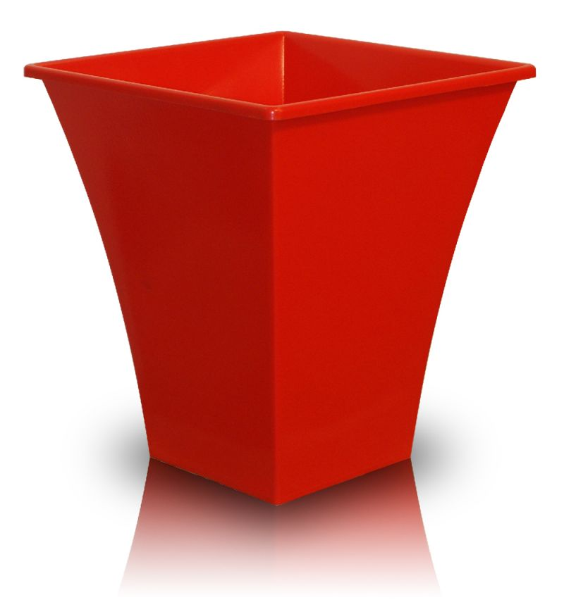 "Metallica Decorative Planter in Red - W28cm (11"")"