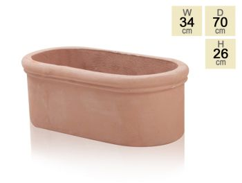 Oval Trough Terracotta Planter - H26cm x W70cm