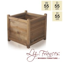 H55cm Wooden Cube Planter by Liz Frances™