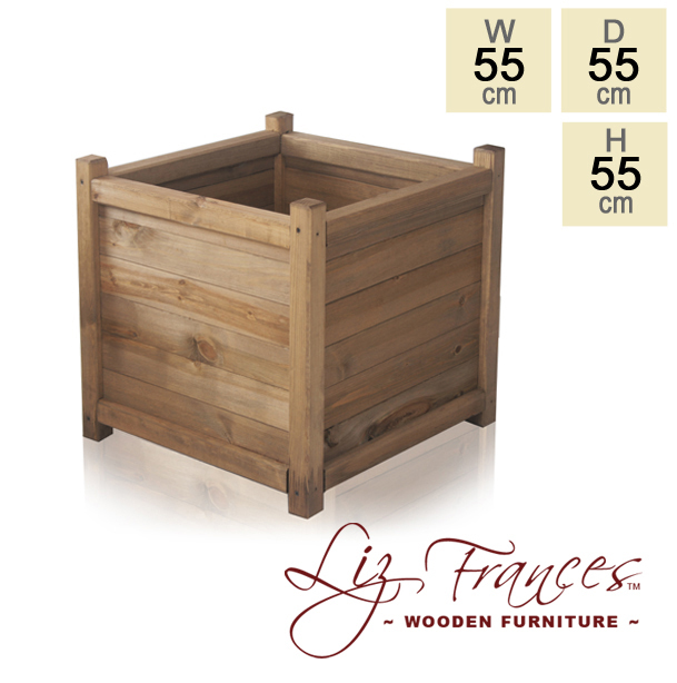 Wooden Cube Planter 55cm by Liz Frances™