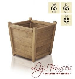 H65cm Wooden Tapered Planter by Liz Frances™