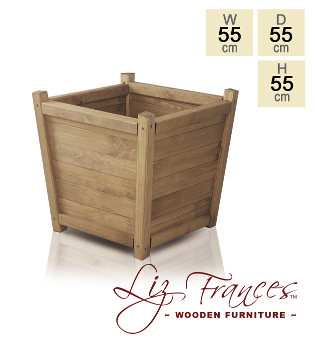 55cm Wooden Tapered Planter by Liz Frances™