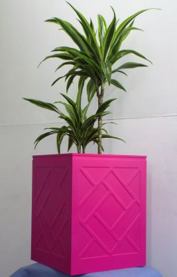 53.5cm Fibreglass Large Lattice Design Planters