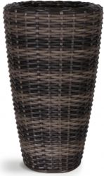 52cm Rattan Mixed Brown Vase Planter with Inbuilt Drainage System