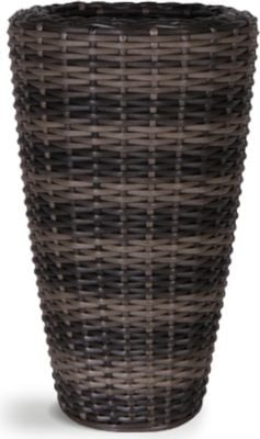 70cm Rattan Mixed Brown Vase Planter with Inbuilt Drainage System