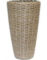 52cm Rattan Natural Vase Planter with Inbuilt Drainage System