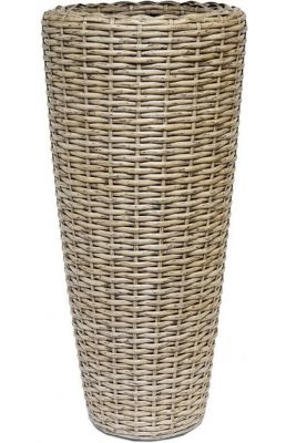 70cm Rattan Mixed Natural Vase Planter with Inbuilt Drainage System