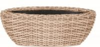 55cm Rattan Mixed Natural Trough Planter with Inbuilt Drainage System