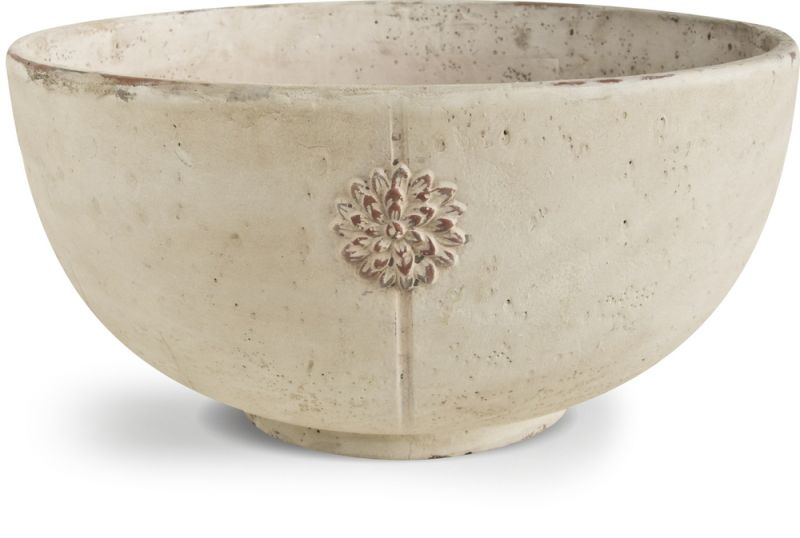 Tuscany Antique White Bowl Planter D33cm x H16cm