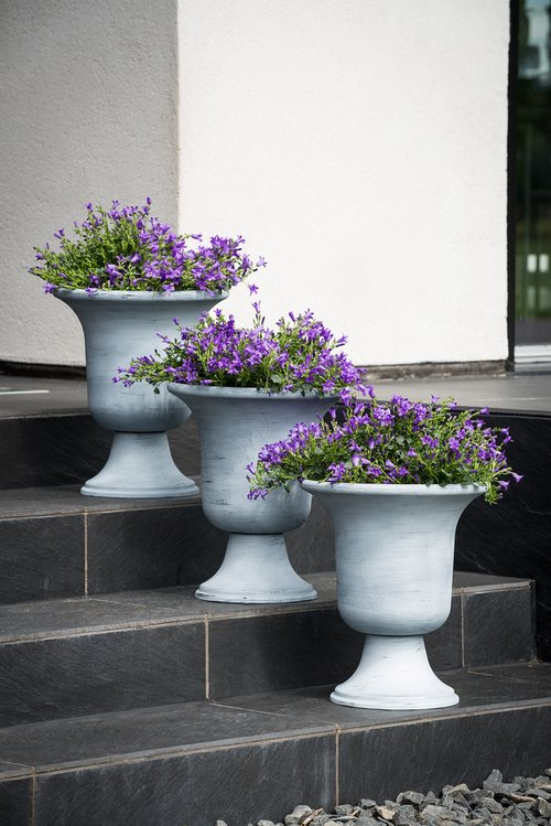 Whitewash Urn Planter D40cm x H47cm