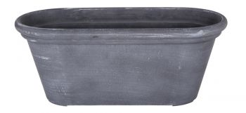 Greywash Trough Planter W38cm