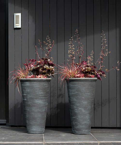 Blackwash Vase Planter D36cm x  H56cm