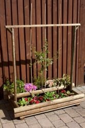 Wooden Grow bag stand and Planter
