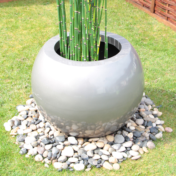 Up in the Air Pond in a Pot Kit with 60cm Grey Fibreglass Planter