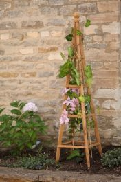 1.5m Wooden Obelisk in Tan - by Smart Garden