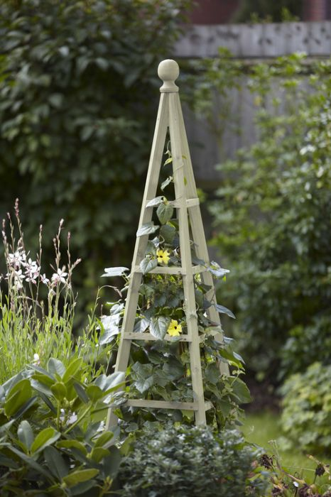 1.9m Wooden Obelisk in Sage - by Smart Garden