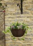 Smart Garden Artificial Hanging Basket Planter - Pink & White
