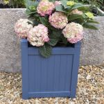Hardwood Large Square Navy Blue Versailles Planter W44cm x H49cm